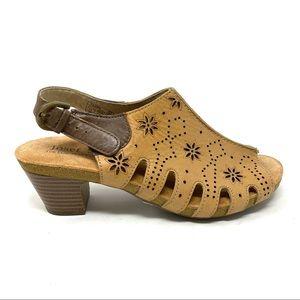 Josef Seibel Ruth 01 camel stone safari heels